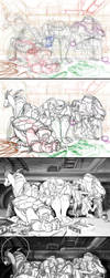 Making of - The Turtles playing with themselves by Nagymarci