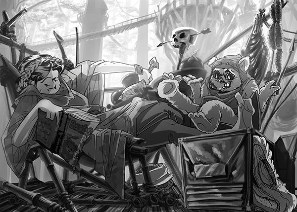 Ewoks Eat People - Original grayscale by Nagymarci