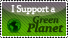Stamp- I support a Green Planet by nancy-hiwatari