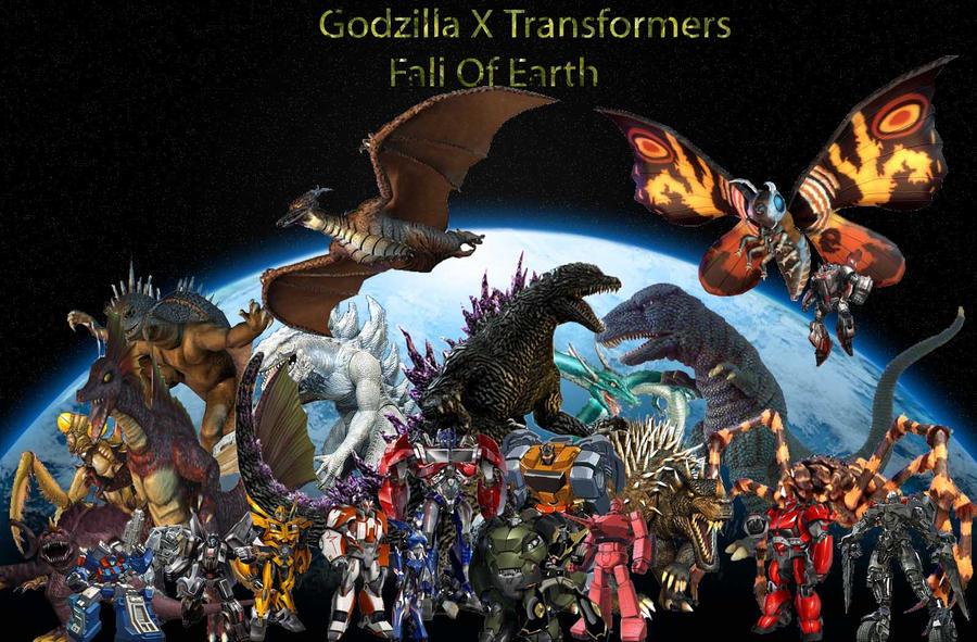 godzilla x transformers fall of earth by connorgodzilla on