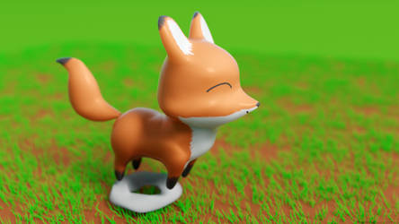 Happy Bouncy Fox by Mathness
