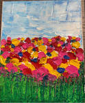 Field Of Flowers 8 x 10 Acrylic On Canvas