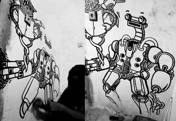 Mural in my studio wall #2 by hizaro