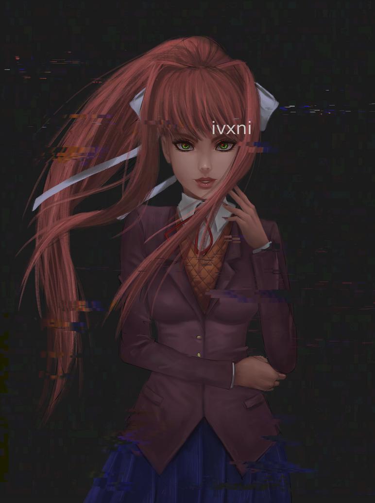 Monika[+SPEEDPAINT] by ivxni