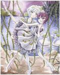 Princess Tutu -- Rue and Mytho by Shiroiyuki3