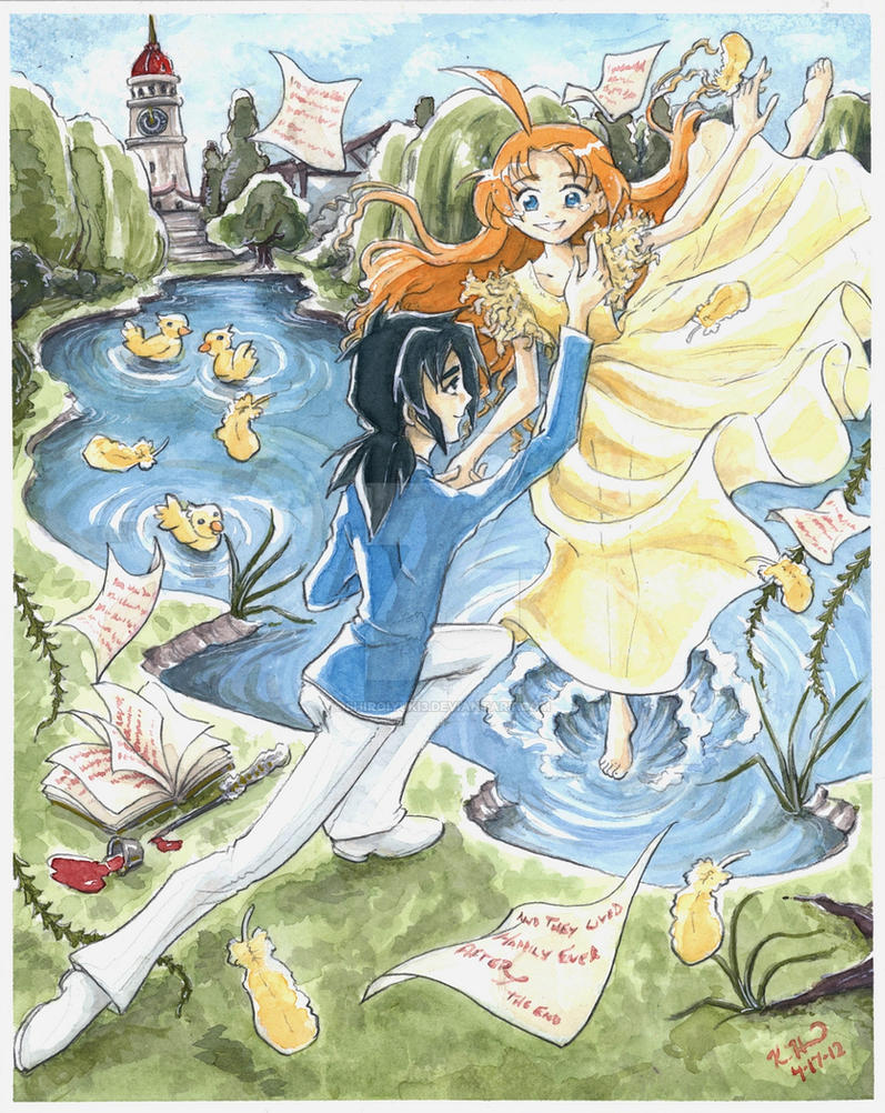 Princess Tutu : Ahiru and Fakir (commission) by Shiroiyuki3