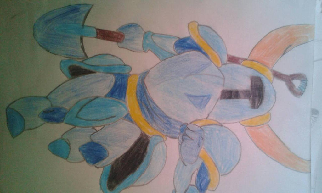 Shovel knight (pencil drawing) by IndieAlexios