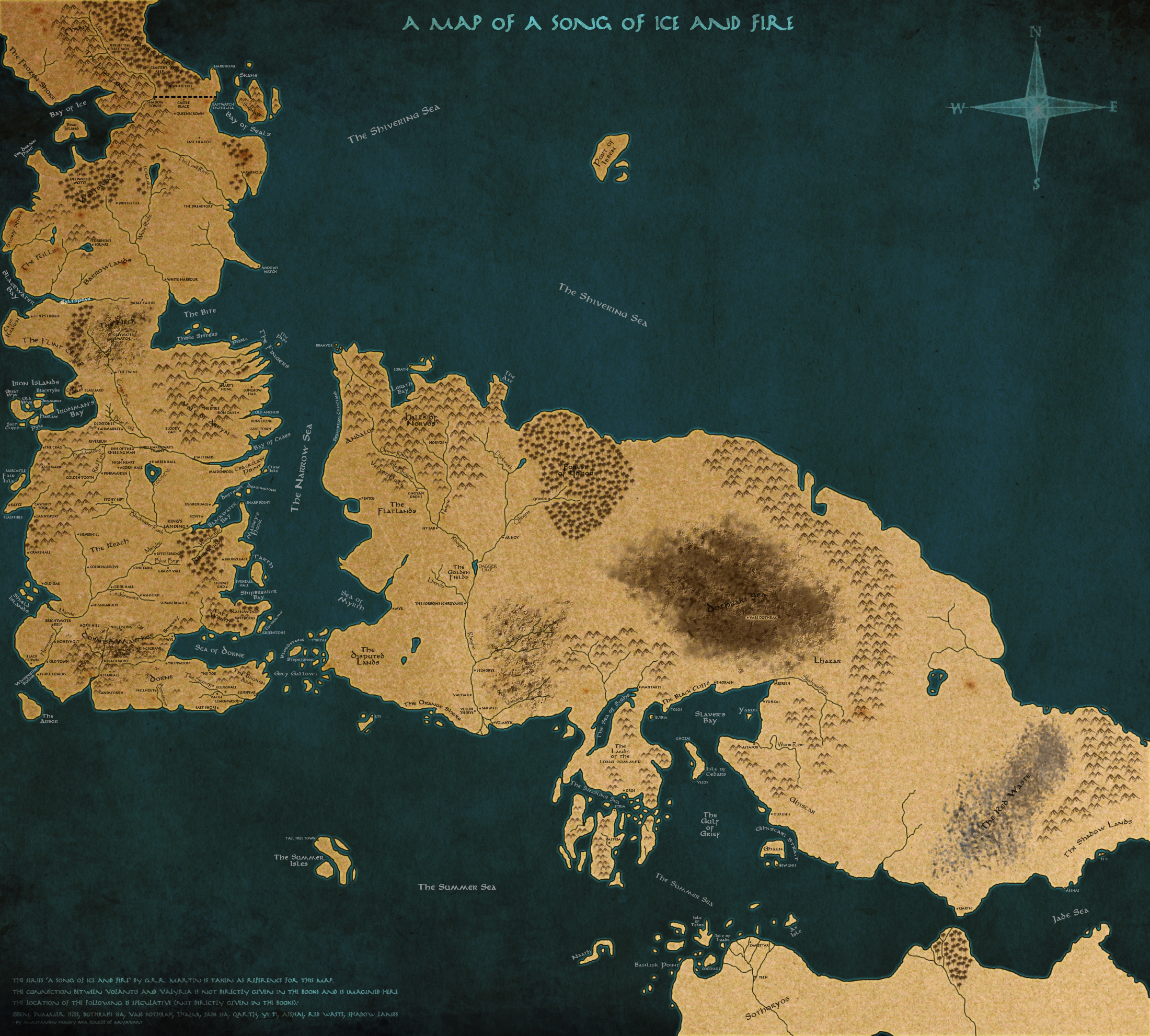 awesome and  prehensive map of all the lands in asoiaf