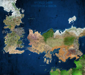 A Map of A Song of Ice and Fire Version 3