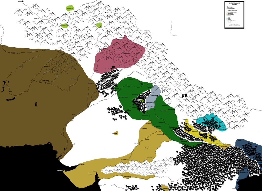 Official Map: 4000 BC by scrollsofaryavart