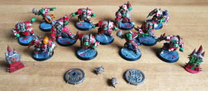 BloodBowl Orc Team by Ciddozzo