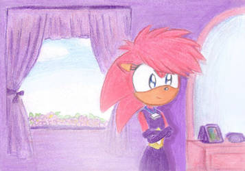Sonia in a Purple Room by Emmer