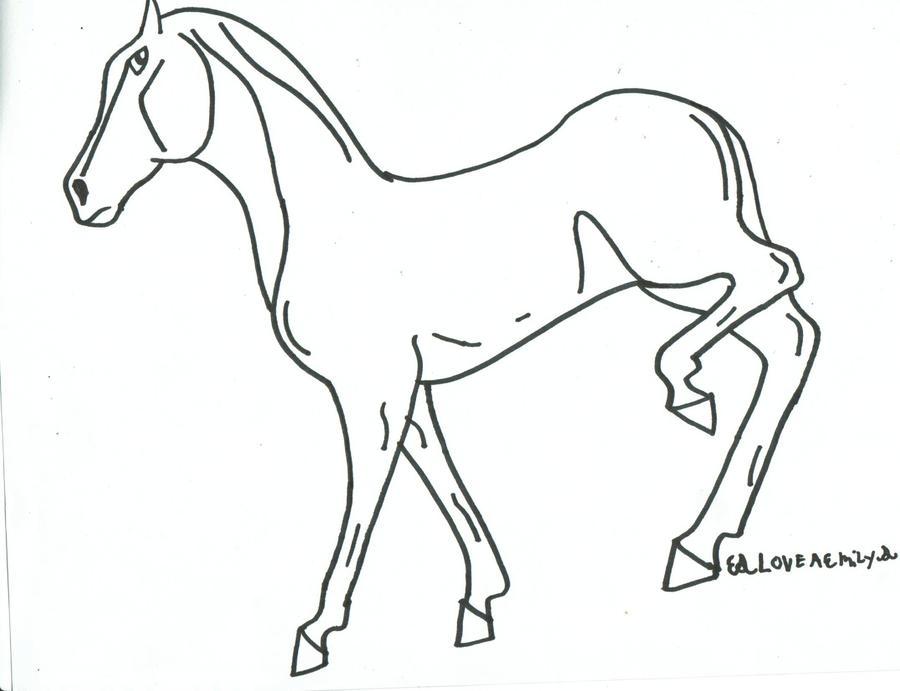 Line Art Creator : Create a horse line art by loveaemily on deviantart