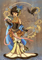 Steampunk--Asian Persuasion by FragileWhispers