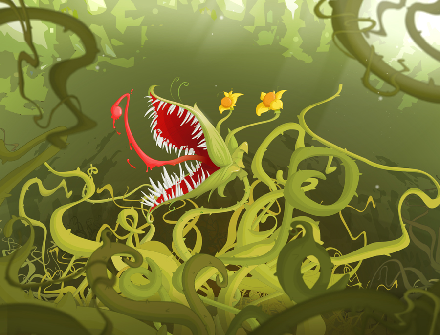 Carnivorous plant by doudzmat on deviantart for Plante carnivore 01