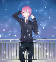 it the snow by KatsuMaya