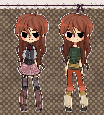 {custom outfits - satans-cactus} by peachshark