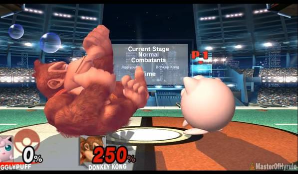 DK sucking his thumb in brawl