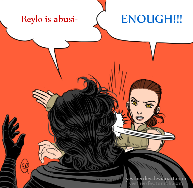 If Kylo Ren gets slapped in Episode VIII, by whom? Bitchslap_meme_by_yestherdey-d9whfgb