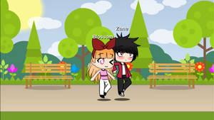 Blossom and Zane in Gacha Life