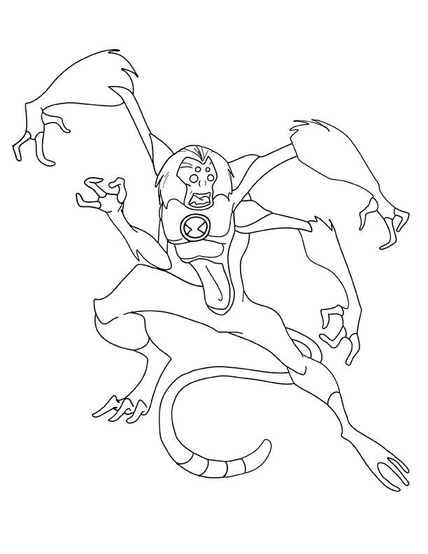Spidermonkey bw by hviciprice for Spider monkey coloring page