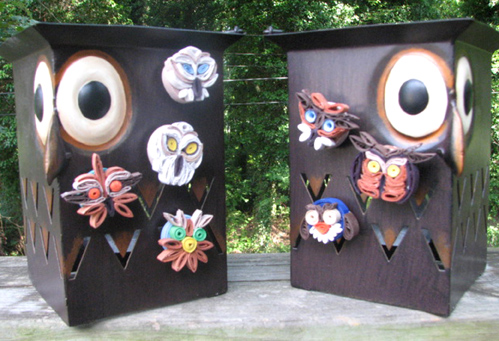 Owl Magnets by hpholo