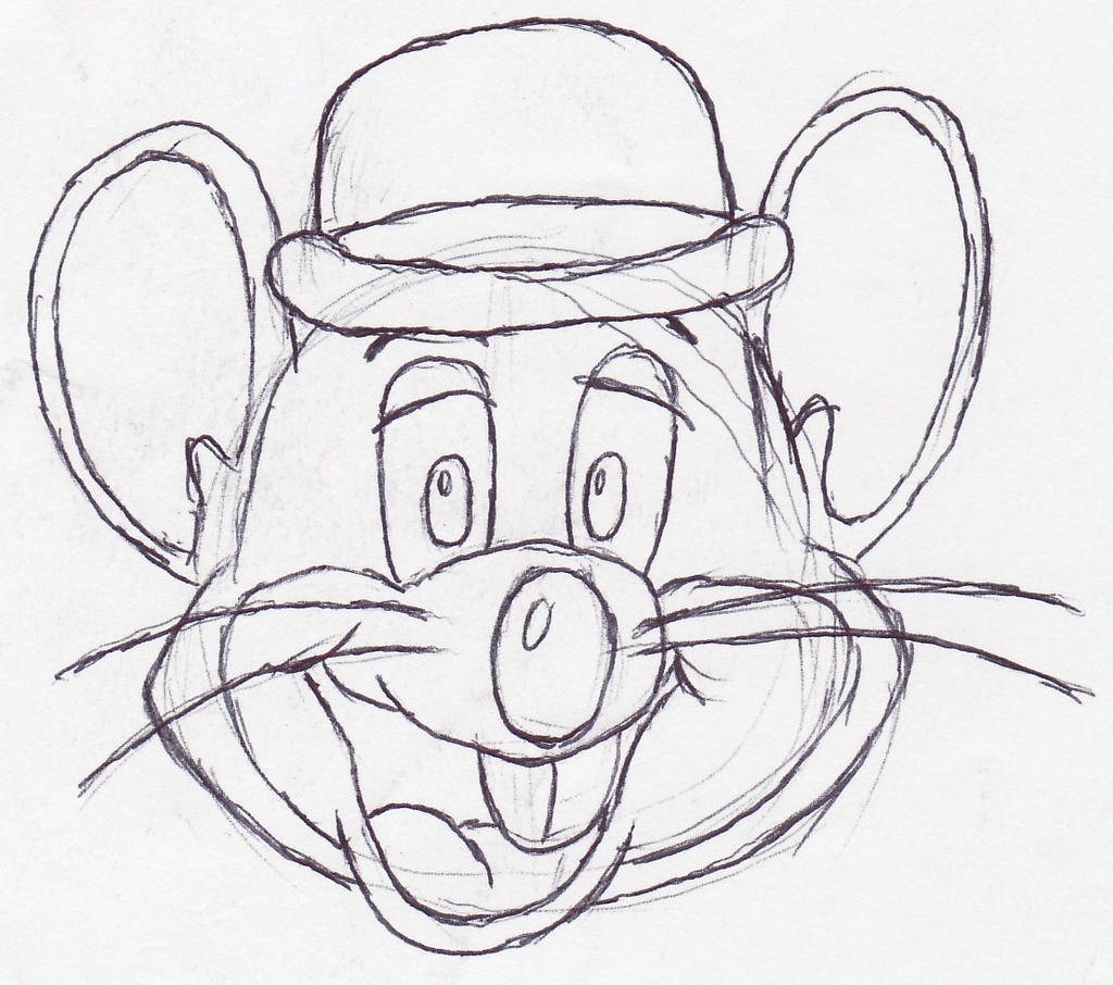 Chuck E Cheese sketch by barrytoon on DeviantArt