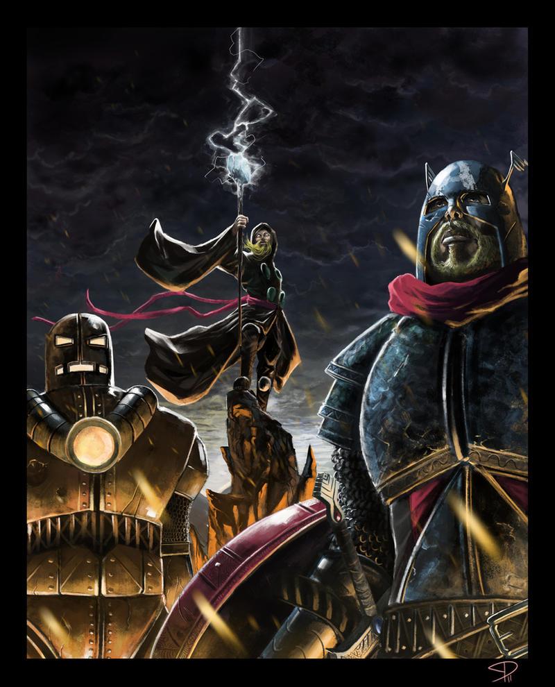 Ye Olde Avengers by steven-donegani