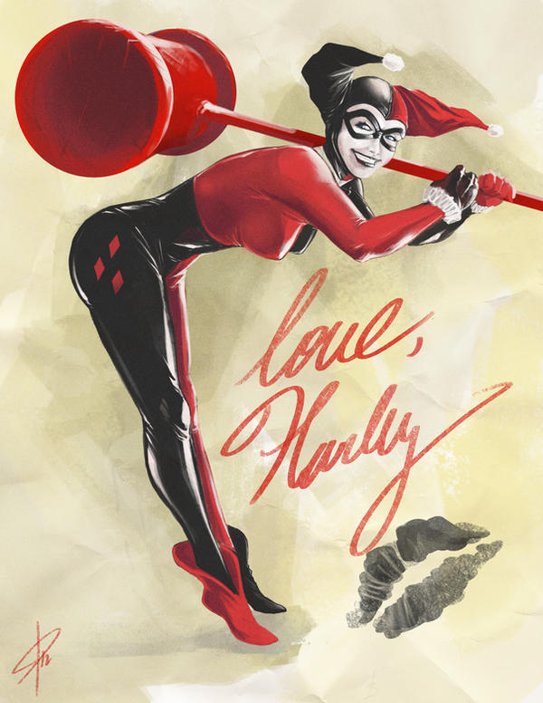 Harley Quinn Pin-up by steven-donegani