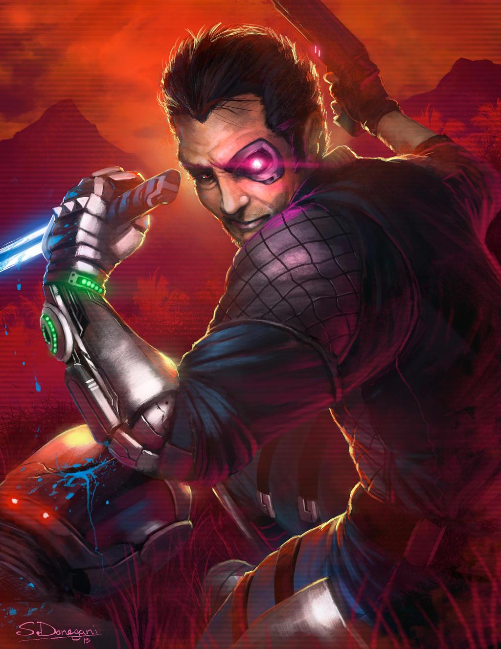 Far Cry 3 Blood Dragon Rex Power Colt By Steven Donegani On