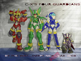 CopyX's Four Guardians by capcomcc