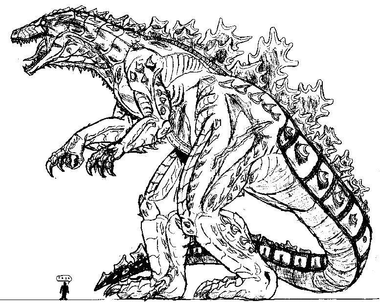 Godzilla Vs King Ghidora - Free Coloring Pages