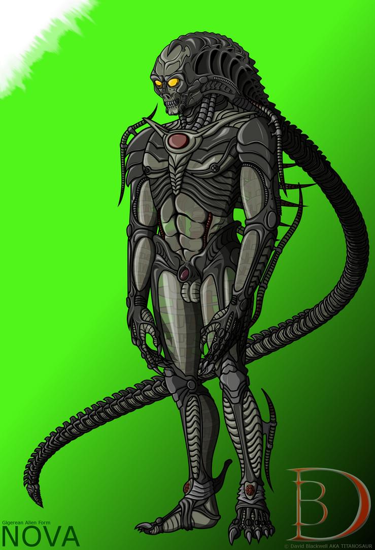 Nova's Alien Form by TITANOSAUR