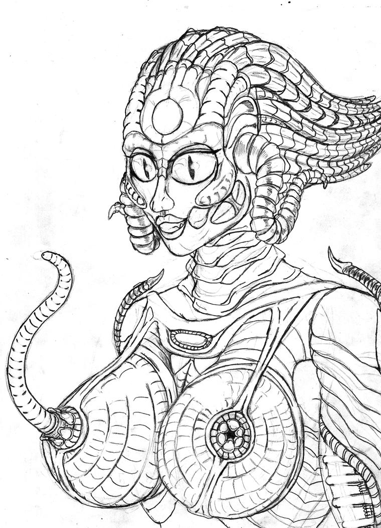 Happy Alien Kama by TITANOSAUR