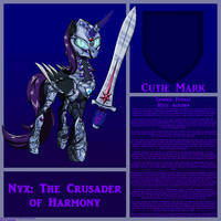 Nyx: Crusader of Harmony by TITANOSAUR