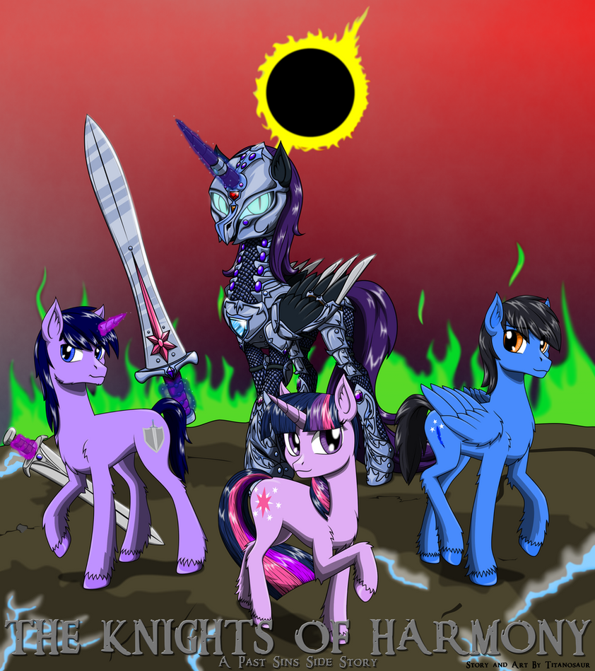 The Knights of harmony Cover Art by TITANOSAUR