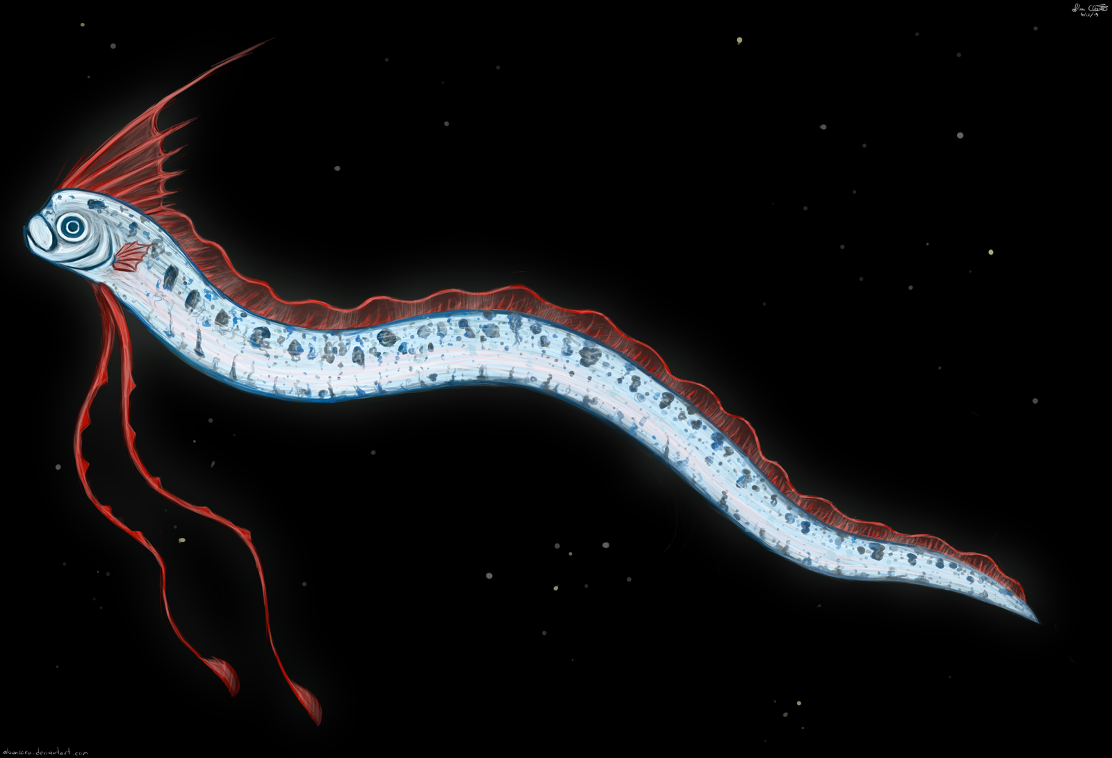 Oarfish by Alouncara on DeviantArt Oarfish Skeleton