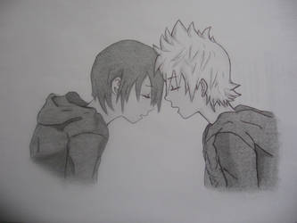 Xion and Roxas, Kingdom Hearts. by Micail7