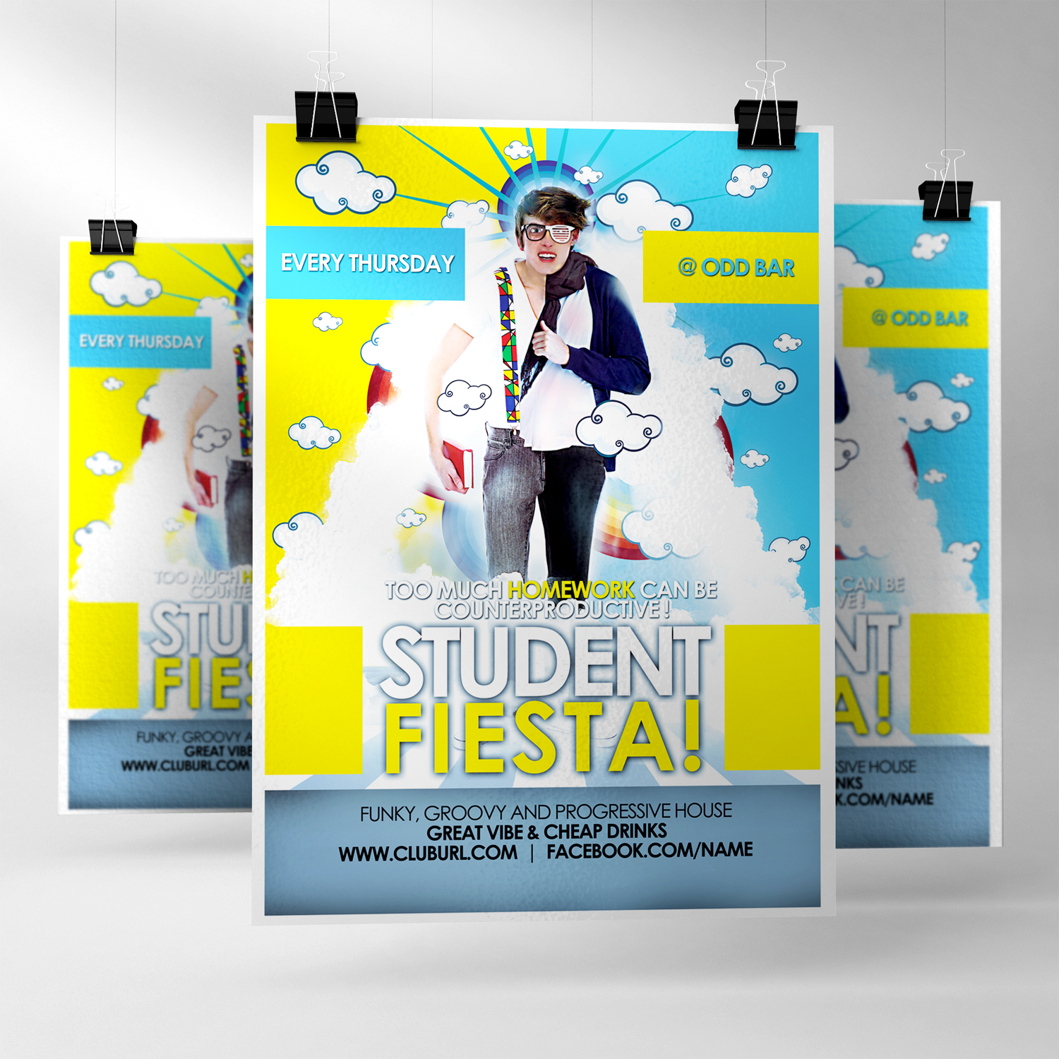 Poster design for students -  Student Fiesta V 1 Poster By Tomekortyl