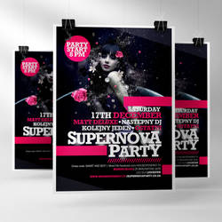 Supernova Party Poster Dec 2011 by TomekOrtyl