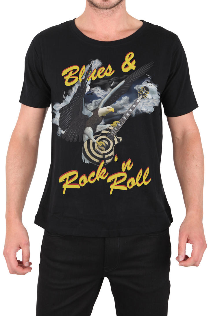 T-Shirt Blues and Rock n' Roll by TomekOrtyl