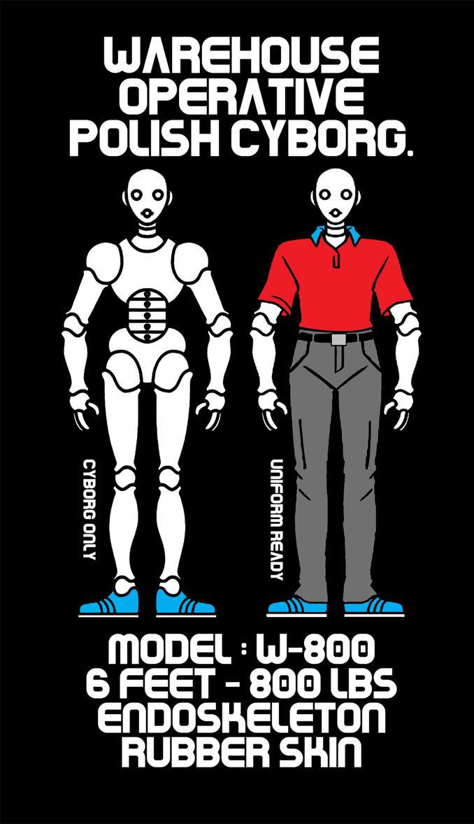Project T-shirt Warehouse Operative Polish Cyborg by TomekOrtyl