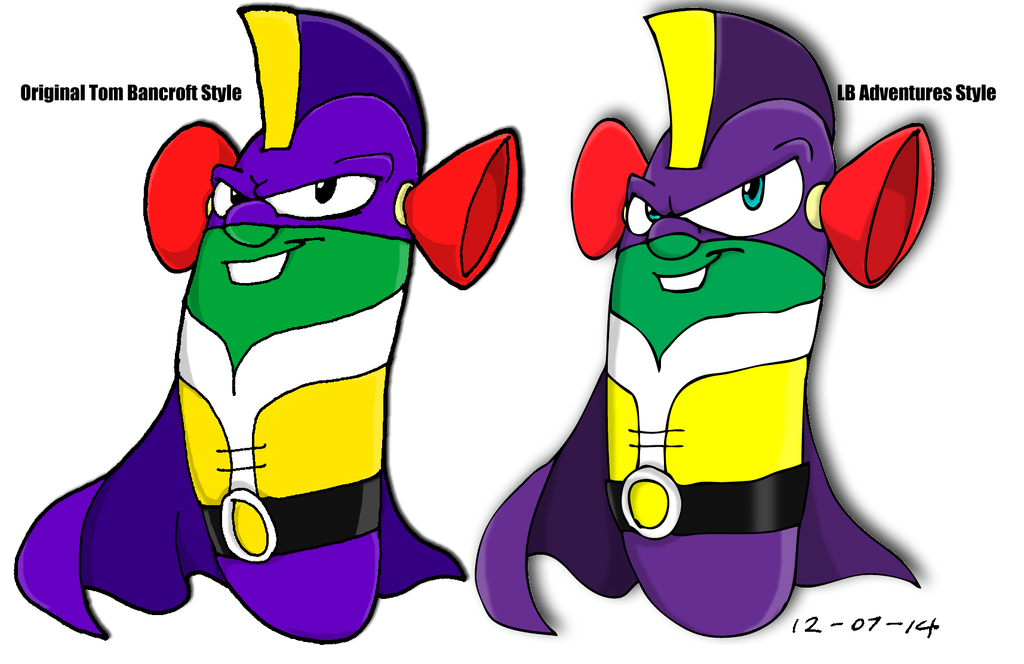Larryboy And The Bad Apple Coloring Pages : Two versions of larryboy by tmntsam on deviantart