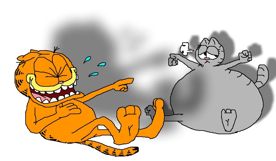 Garfield And Fat Nermal By Tmntsam On Deviantart