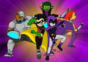 The Teen Titans! by tmntsam