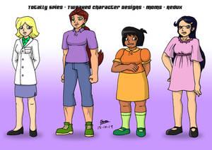 Totally Spies! Tweaked Character Designs - Moms 2
