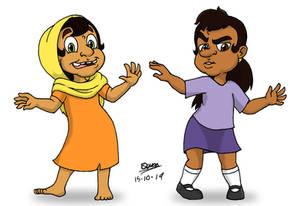 Arab-Hindu and Latina Grella