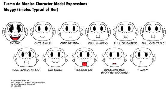 Turma da Monica Model Expression Sheets 4