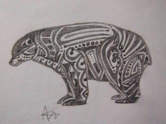 Tribal Bear by Colonelfluffysocks