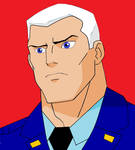 Young Justice Captain Atom in Civvies